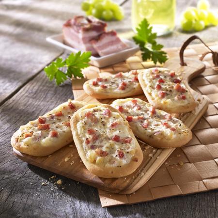 Mini Pizzabrötchen und Flammkuchen