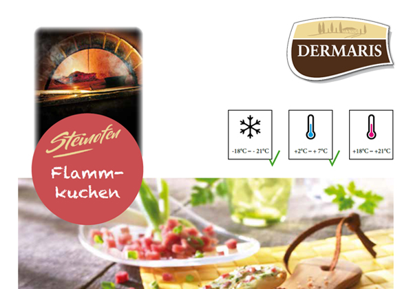 DERMARIS Produktinformation Flammkuchen