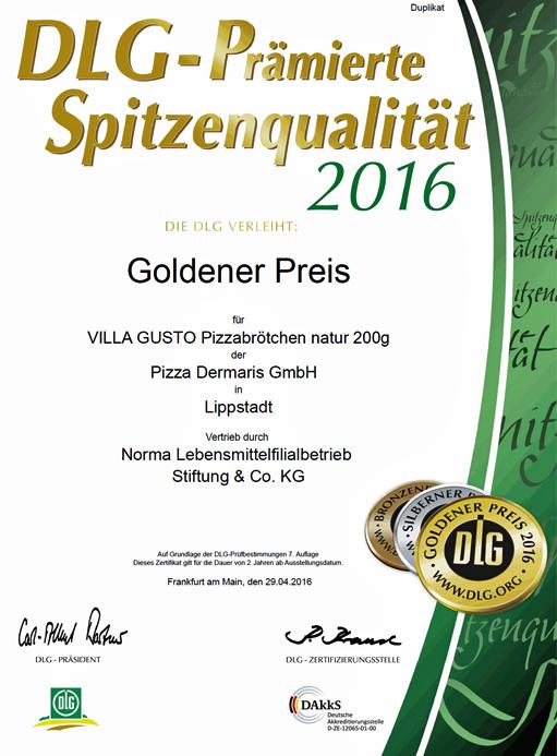 DERMARIS DLG Goldener Preis 2016