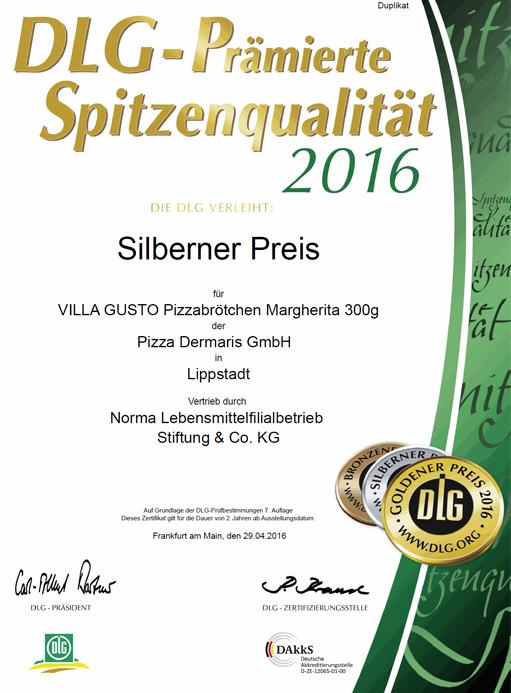 DERMARIS DLG Silbener Preis 2016