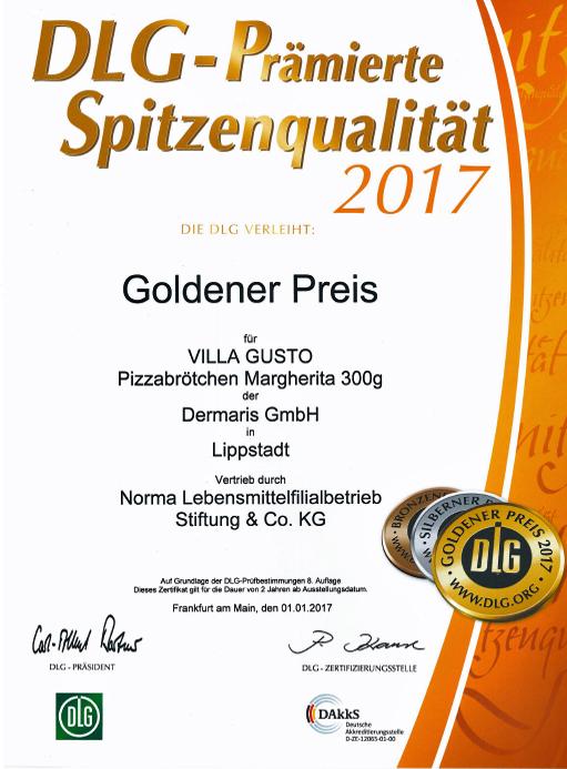 DERMARIS DLG Goldener Preis 2017