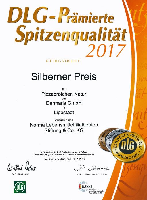 DERMARIS DLG Silbener Preis 2017