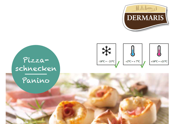 DERMARIS Produktinformation Pizzaschnecken/Paninos